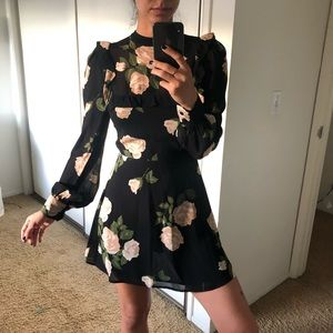 Reformation Floral Ruffle Dress